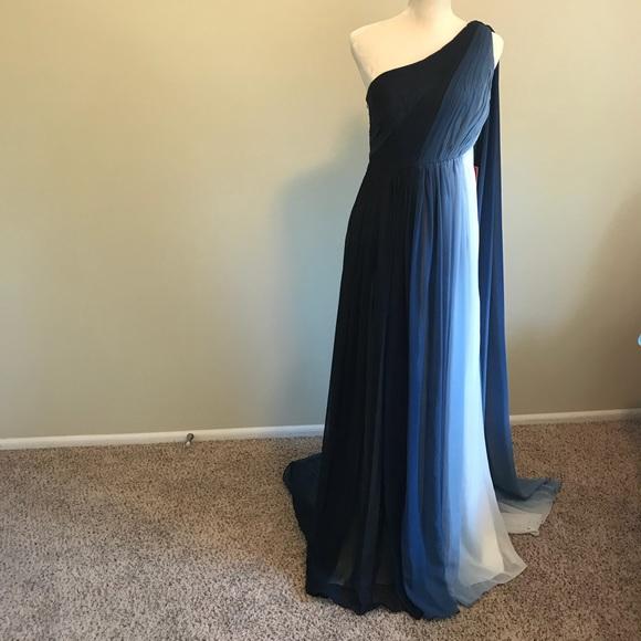50ec89fc796 ML Monique Lhuillier One-Shoulder Ombre Gown